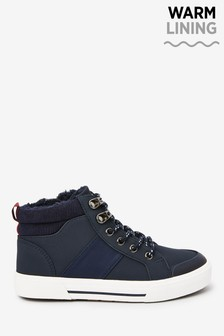 Navy Warm Lined Hiker Lace-Up Boots (Older)