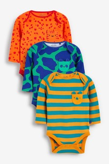 Bright Abstract Long Sleeve Bodysuits 3 Pack (0mths-3yrs)