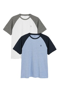 Grey Raglan T-Shirts Two Pack