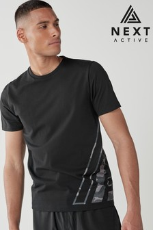 Black Camouflage Next Active Sports T-Shirt
