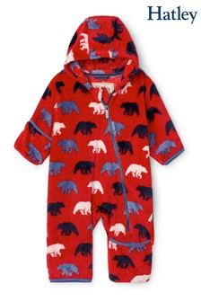 Hatley Wild Polar Bears Fuzzy Fleece Baby Bundler All-In-One