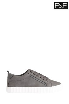 F&F Older Boys Grey Lace-Up Shoes