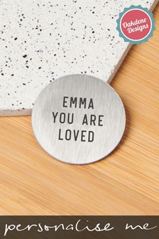 Personalised You Are Loved Pocket Coin by Oakdene Designs