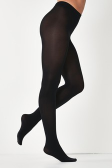 Black Basic Opaque 100 Denier Tights Five Pack