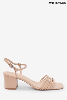 Whistles Nude Multi Strappy Sandals