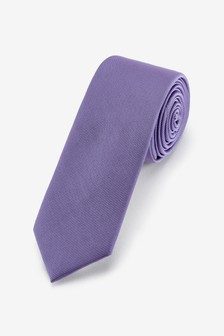 Purple Slim Twill Tie