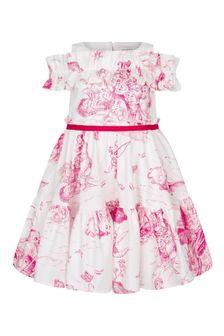 فستان قطن أبيض للبنات منMonnalisa