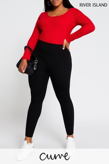 River Island Plus Black Valentina High Waisted Leggings