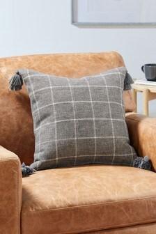Grey Lawson Woven Check Cushion