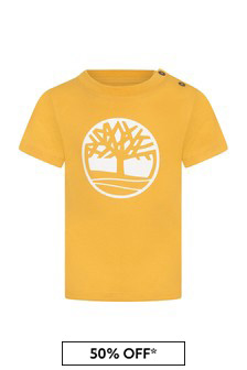 Baby Boys Yellow Cotton T-Shirt