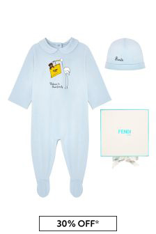 Baby Boys Blue Cotton Gift Set