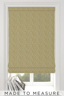 Geo Texture Ochre Gold Made To Measure Roman Blind