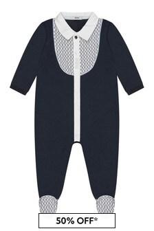 ثوب مناسب لنمو البيبي قطن أزرق داكن أولادي منBOSS