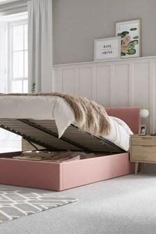 Opulent Velvet Heather Emily Ottoman Storage Bed