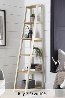 Classic Cream Malvern Corner Ladder Shelf