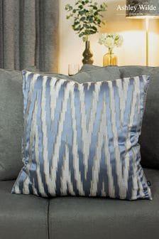 Ashley Wilde Blue Fenix Geo Velvet Cushion