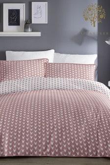 Appletree Dari Geo Piped Cotton Duvet Cover and Pillowcase Set