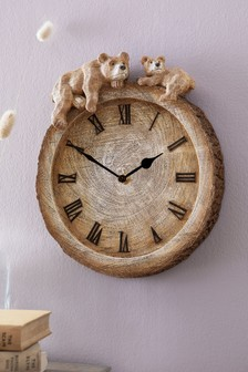 Novelty Bear Wall Clock