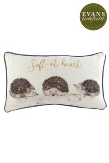 Oakwood Hedgehogs Cushion by Evans Lichfield