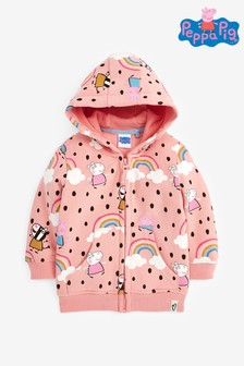 Pink Peppa Pig™ Licence Zip Through Hoodie (6mths-7yrs)