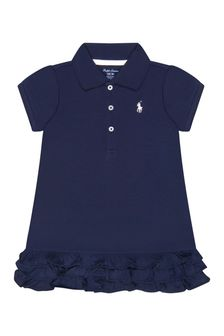 Ralph Lauren Kids Baby Girls Navy Polo Dress