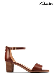 Clarks Tan Leather Kaylin60 2Part Sandals
