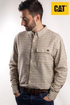 Cat® White Tattersall Button Down Shirt