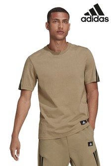 adidas 3 Stripe Sleeve T-Shirt