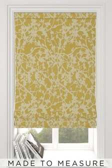 DC Blossom Jacquard Ochre Gold Made To Measure Roman Blind