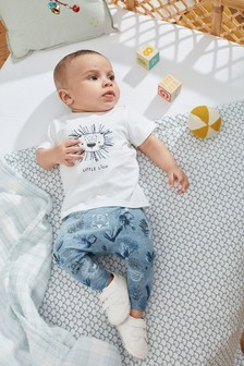 Blue Lion Stretch Jersey T-Shirt And Leggings Set (0mths-3yrs)
