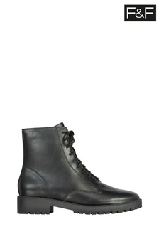 F&F Black Lace-Up Boots