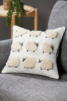 Natural Tufted Sheep Cushion