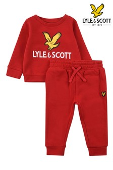 Lyle & Scott Red Eagle Logo Crew And Joggers Set