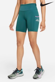 Nike Womens Teal Trail Running Epic Luxe Shorts