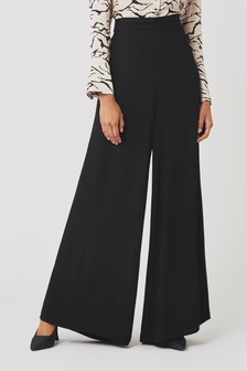 Ghost London Black Eleanor Satin Trousers