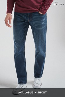 Blue Vintage Wash Slim Fit Motion Flex Stretch Jeans