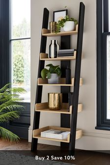Black Malvern Ladder Shelf