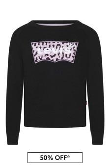 Levi's® Girls Black Logo Sweater