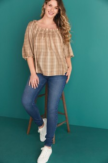 Mid Wash Maternity Authentic Skinny Jeans