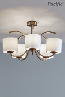 Arcadia Metal Curved 3 Arm Semi Flush Pendant by Pacific Lifestyle