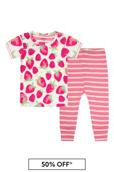 Hatley Baby Girls Pink Delicious Berries Short Sleeve Pyjama Set