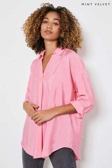 Mint Velvet Pink Throw On Shirt