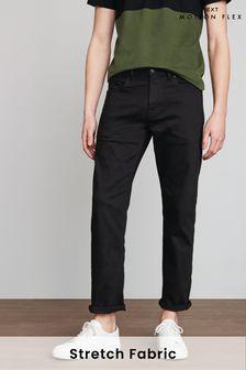 Black Straight Fit Motion Flex Stretch Jeans