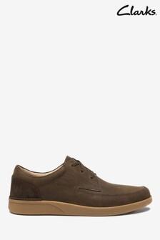 Clarks Dark Brown Nub Oakland Craft Shoes
