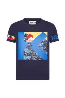 Kenzo Kids Boys Navy Cotton T-Shirt