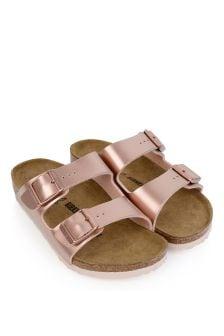 Birkenstock Electric Metallic Copper Arizona Sandals