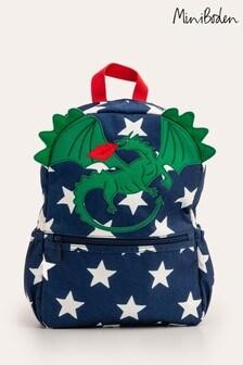Mini Boden Navy School Bag
