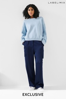 Mix/Marques Almeida Satin Combat Trousers