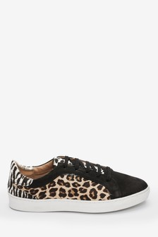 Animal Signature Leather Trainers