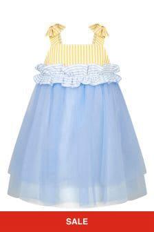 Simonetta Girls Blue Dress